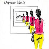 "Depeche Mode 'Dreaming Of Me' 7"" artwork"
